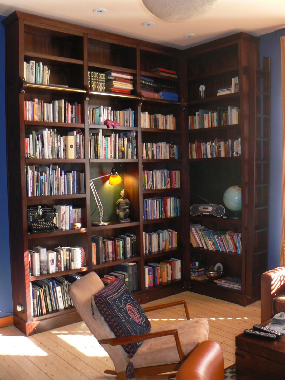 Napier Dark Mahogany Bookshelf #repisas http://cnc.gallery/