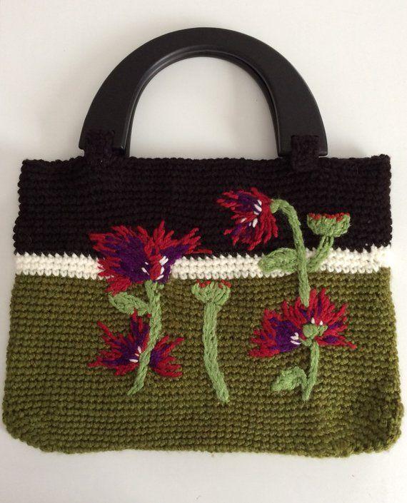 Pin By She S Crafty By Cristy On Bolsa De Croche Crochet Tote Bag Crochet Tote Crochet Handbags