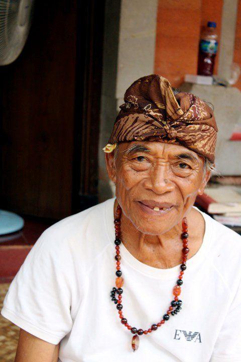Ketut Liyur - of Eat Pray Love fame. Bali, Indonesia