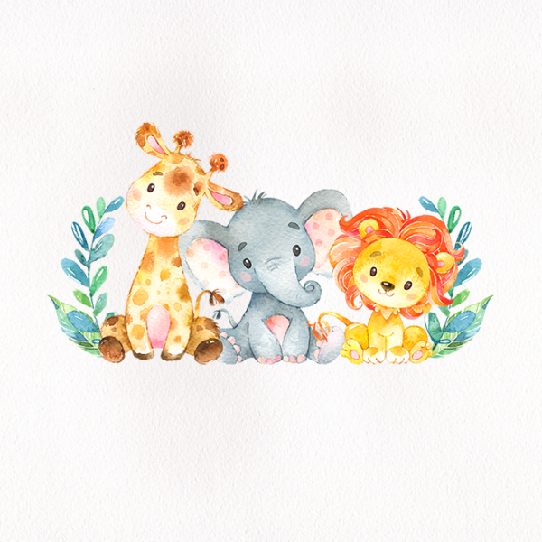 Watercolor Safari Animals Baby Shower Sticker Zazzle Com In 2021 Safari Animals Baby Shower Baby Animal Drawings Animal Baby Shower