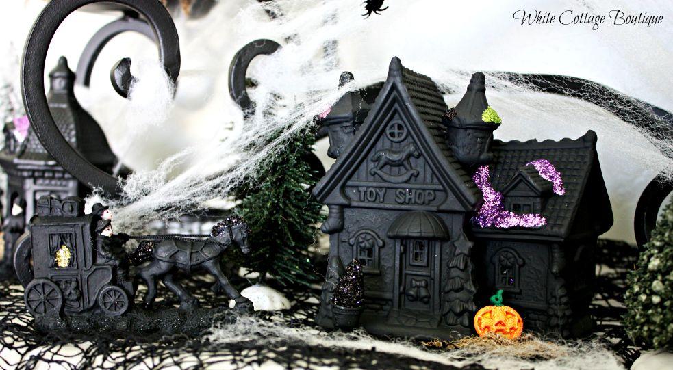 DIY Halloween Village Diy halloween village, Halloween