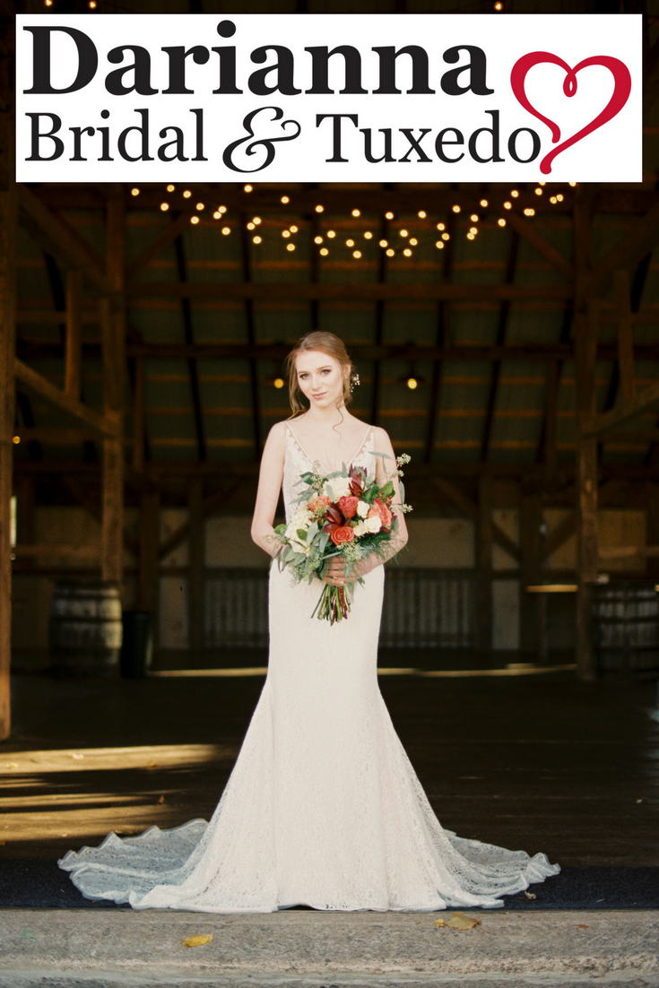 Showing Off This Very Elegant Paloma Blanca Wedding Dress In A