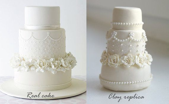 Wedding Cake Replica Ornament 1st By Yourdreamcake