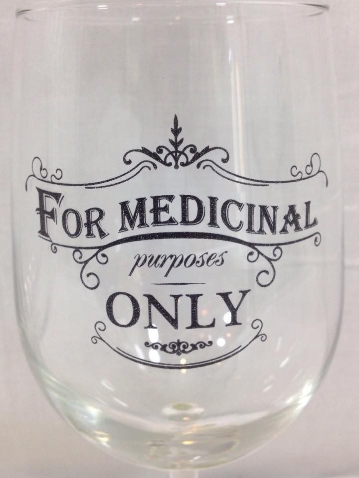 Fleurty Girl Everything New Orleans For Medicinal Purposes - Vinyl decals for drinking glasses