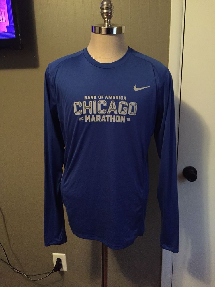 watch 94647 d1f74 Nike Dri-Fit Bank of America Chicago Marathon 2015 - Long Sleeve - Large   fashion  clothing  shoes  accessories  mensclothing  activewear (ebay link)