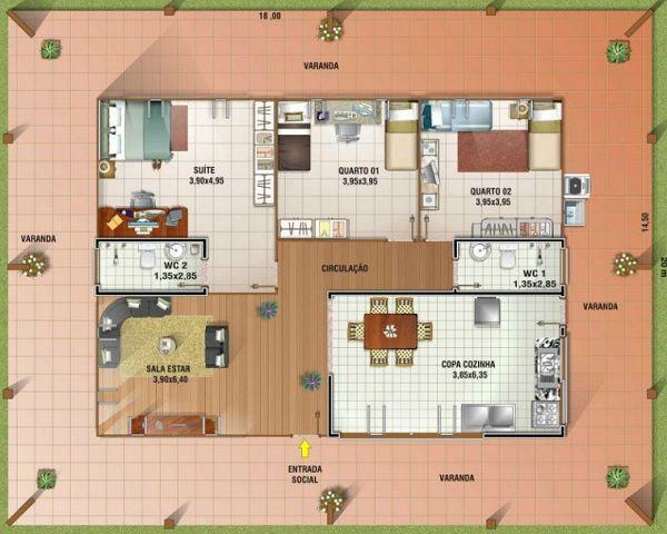 planos de casas pequenas hermosas