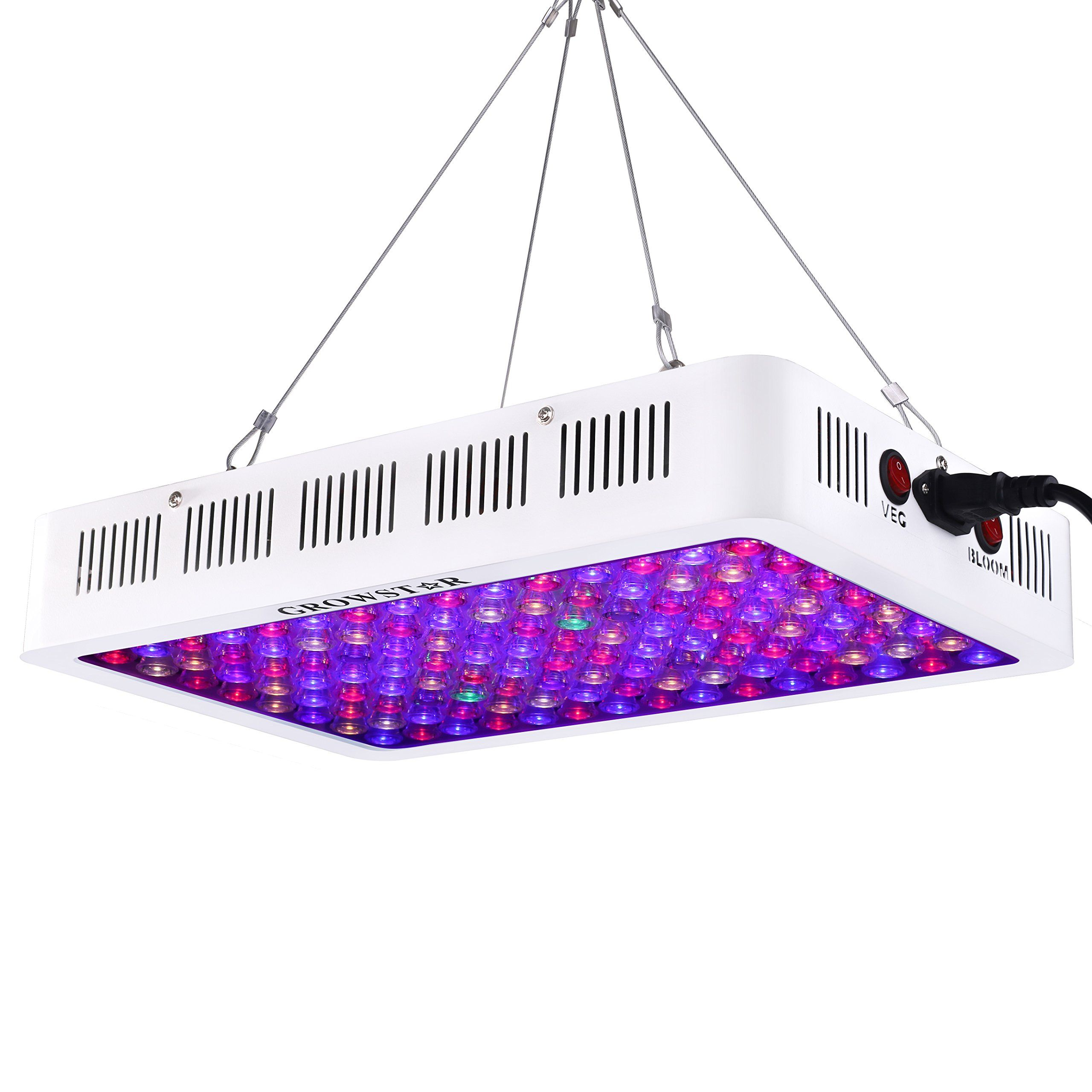 Growstar 600w Led Grow Light Optical Lens 12band Full Spectrum Veg Bloom Switch Plant Light Indoor Plants Garden Led Grow Lights Indoor Grow Lights Grow Lights