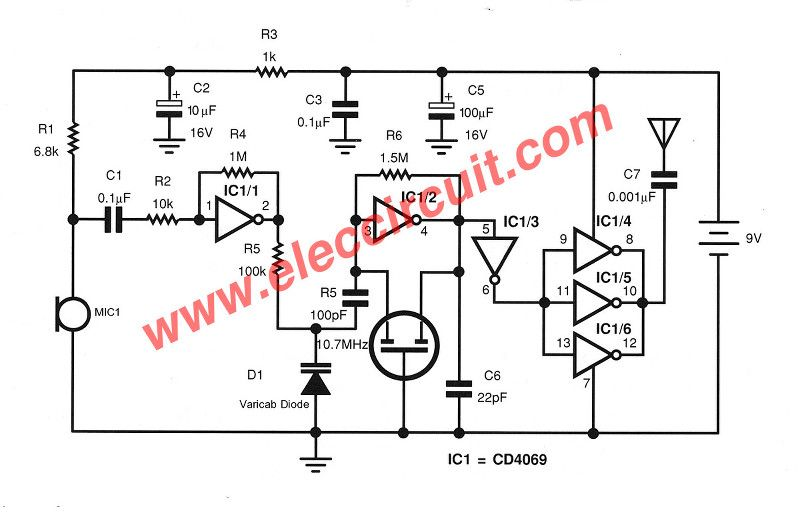 Fm Transmitter Circuit Without Coil Fm Transmitters Circuit Transmitter
