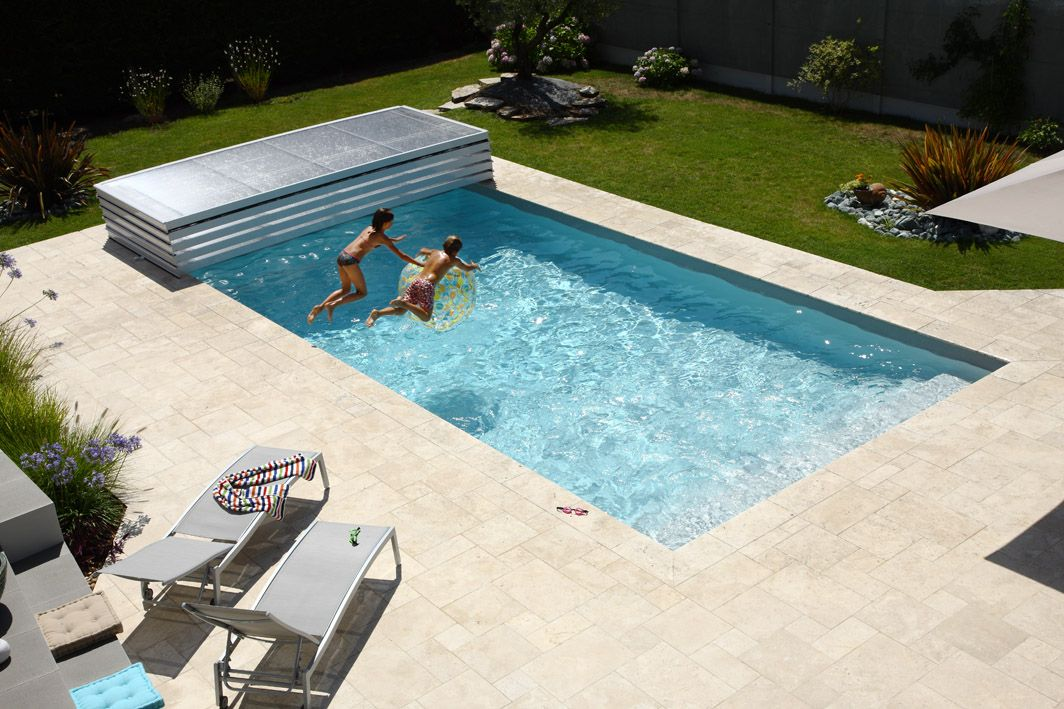 4 abri piscine plat amovible empilable ultra bas repliable