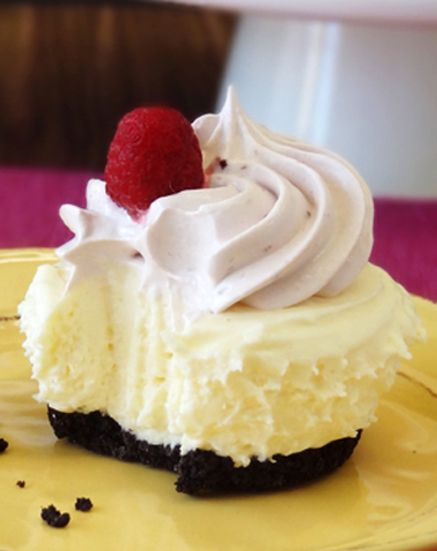 Raspberry Cheesecake Ice Cream Cupcakes