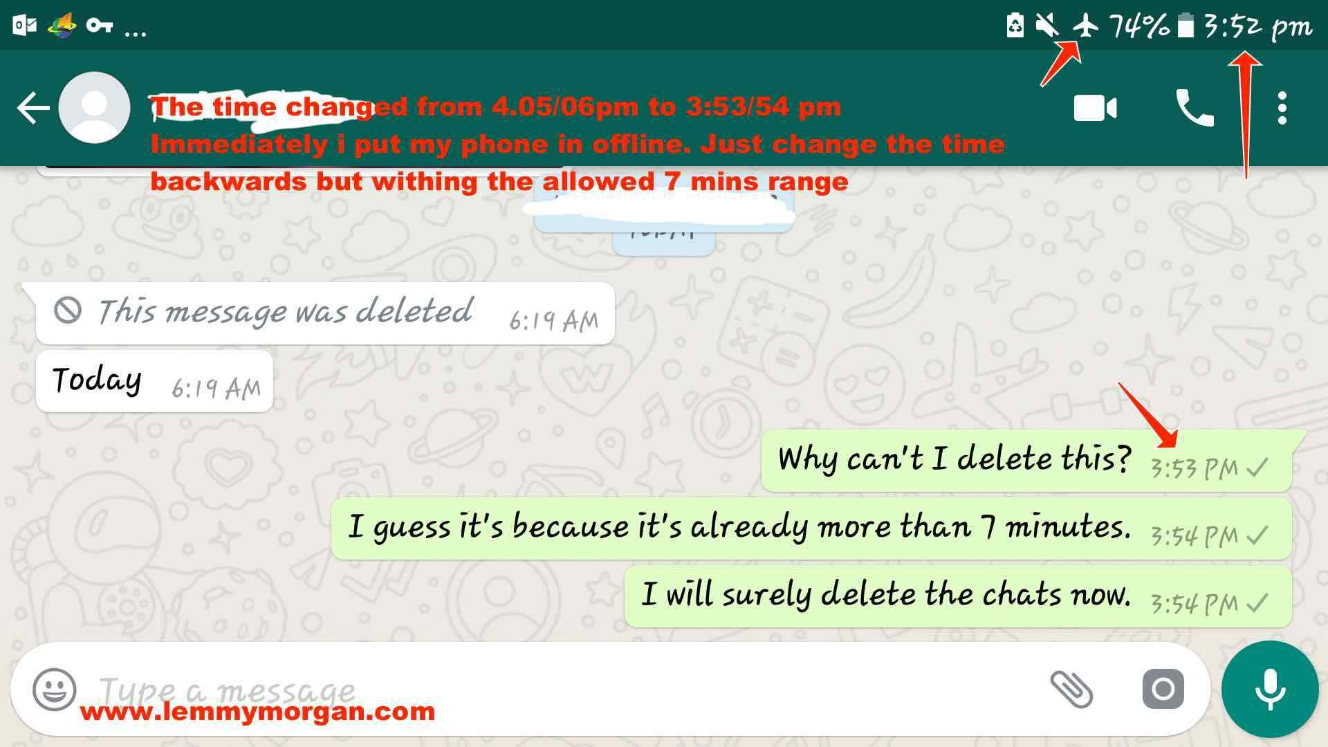 Retract Whatsapp Chats Also Hide Yourself While Viewing