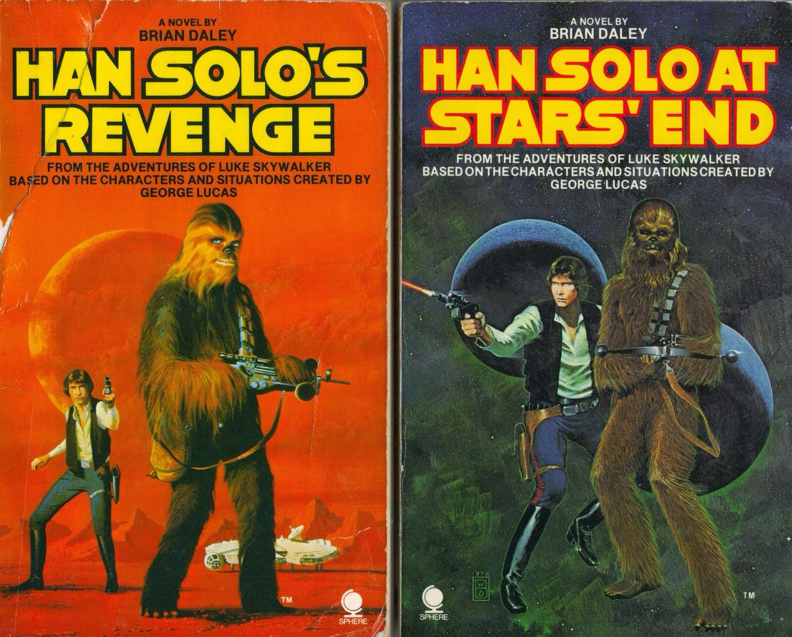 Vintage Star Wars novels - I read both of these as a kid.