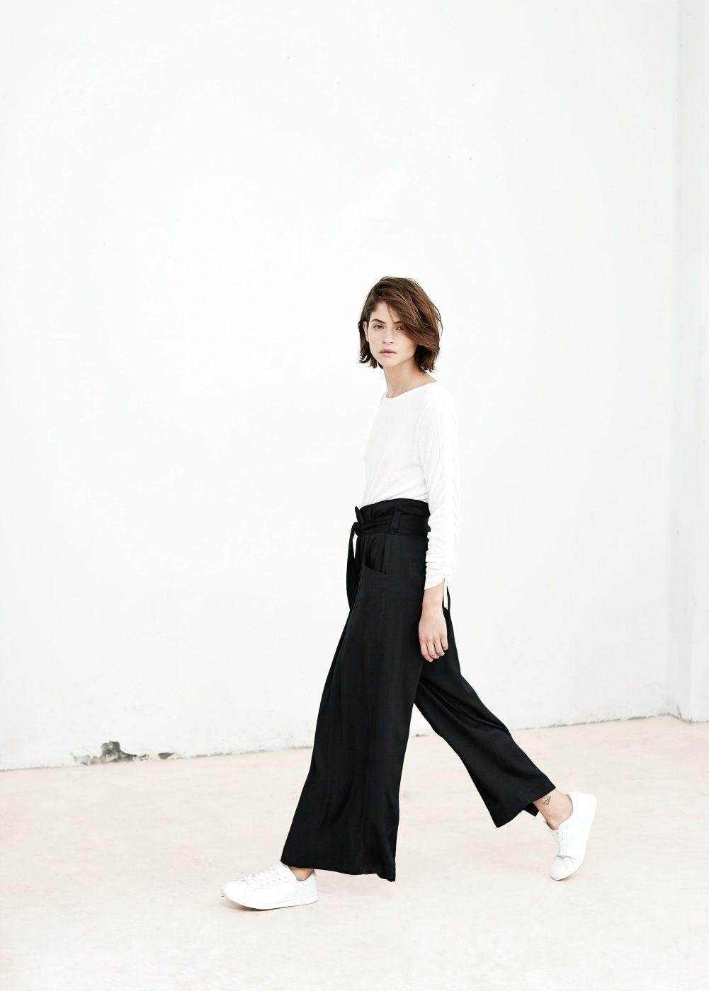 Photo of Premium – pantaloni palazzo capri – Donna | MANGO Spagna