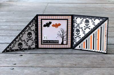 PaperVine: Halloween Tri-Fold Card (Echo Park)