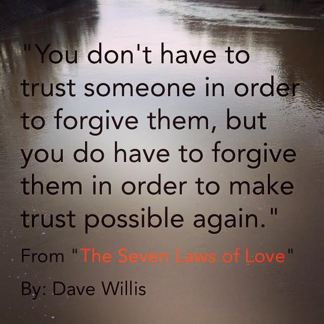 The 4 steps to forgiveness