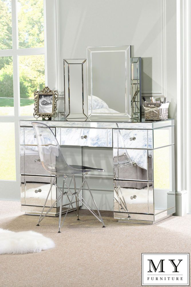Captivating Large Mirrored Furniture Dressing Console Table / Desk From My Furniture