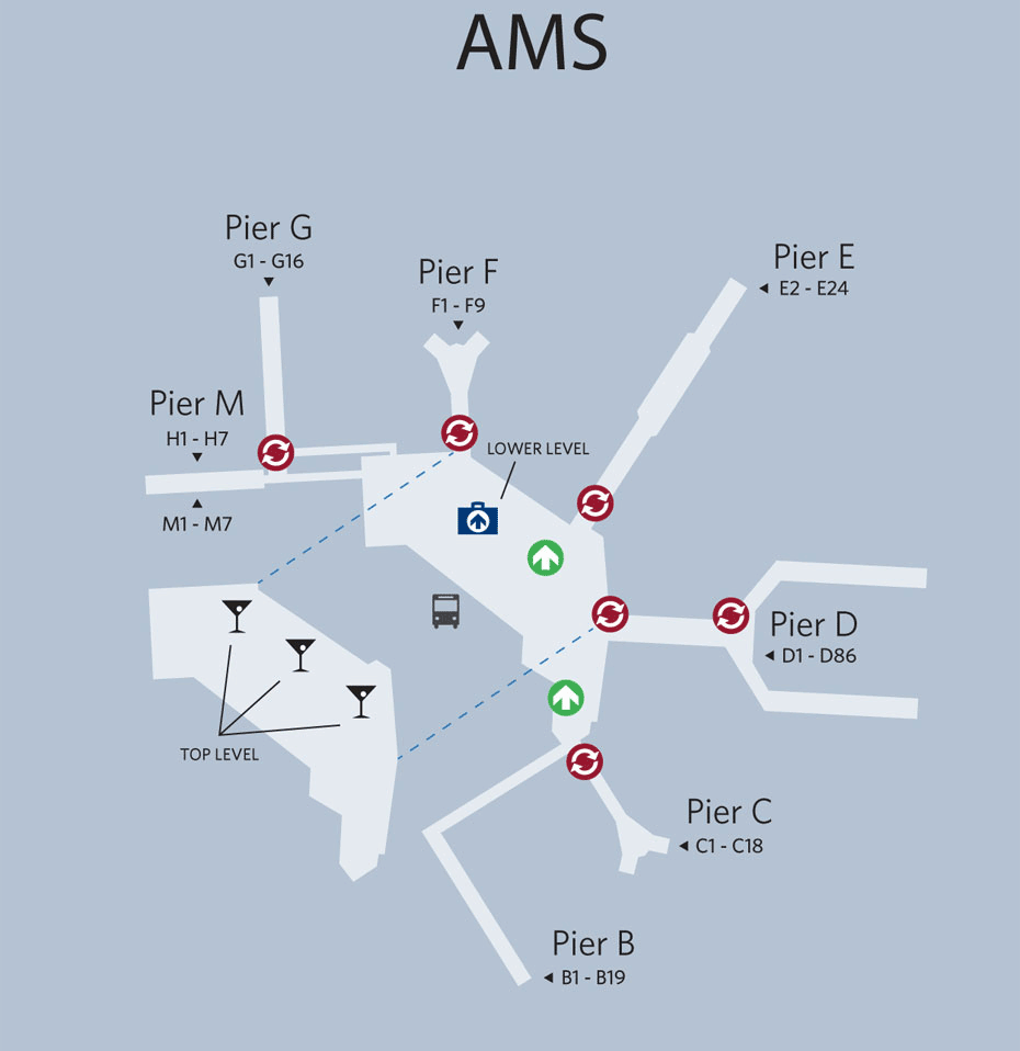 Amsterdam Airport Map Austria Germany And Switzerland - Germany map airports