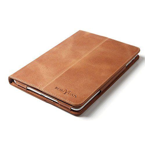 Eine praktische, elagante und stylische Hülle aus echt-hochwertigem Leder für Ihr Tab      Marke: boriyuan     Die Tablet-Tasche von boriyuan wird aus weichem, echtem Leder Qualität hergestellt. Die Nähte sind sorgfältig verarbeitet und wie die gesam...