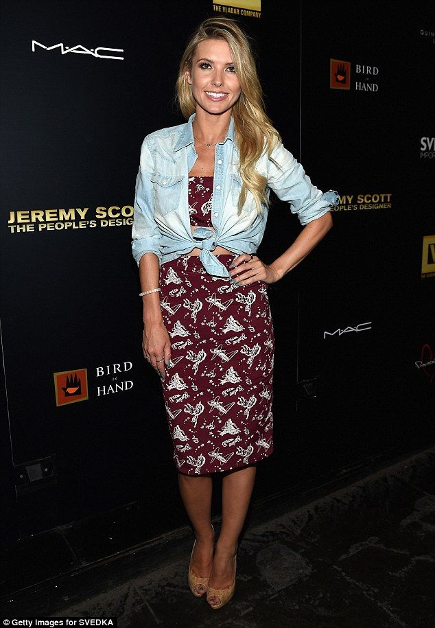 The new normal: Audrina Patridge had that pleasant country feel in a burgundy…