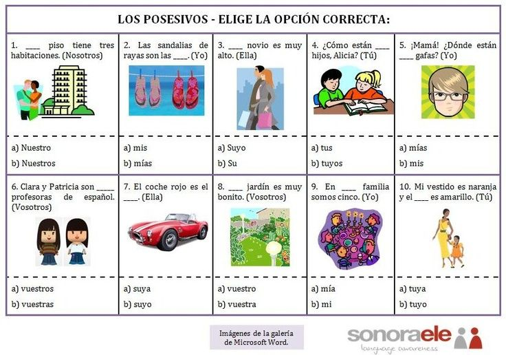 12 Ideas De Los Posesivos Posesivo Adjetivo Posesivo Clase De Español