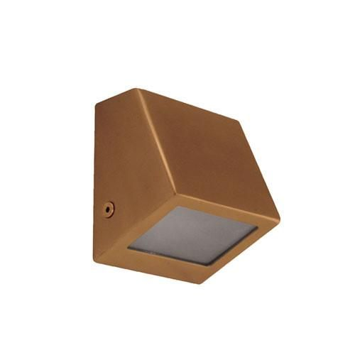 Copper wall wedge exterior mini wall light or step light outdoor copper wall wedge exterior mini wall light or step light mozeypictures Images
