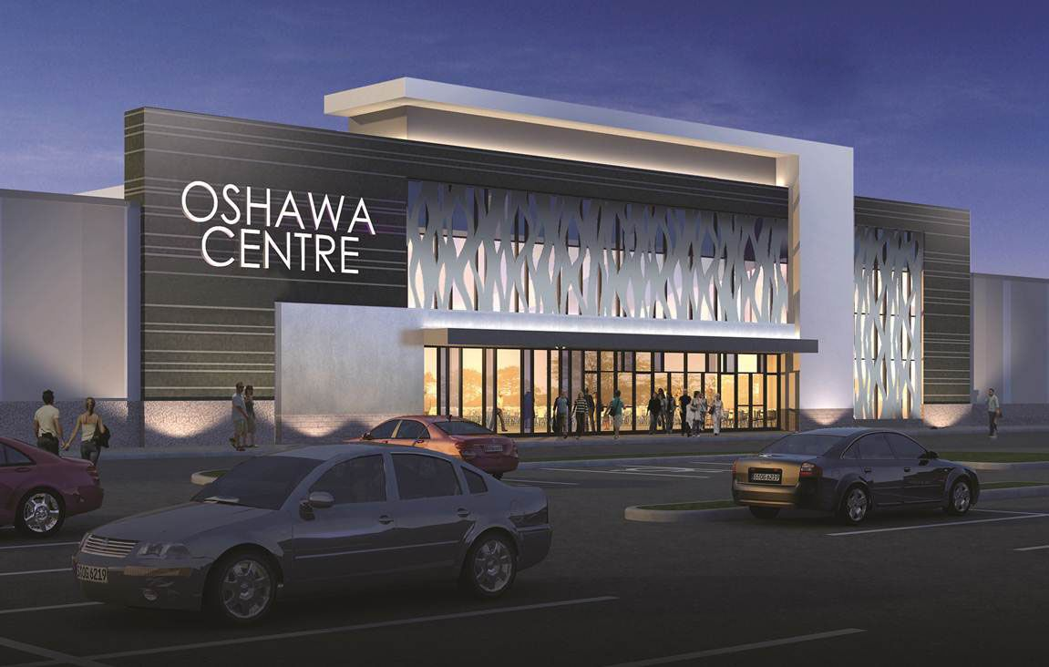 New shopping plaza renovation ivanho cambridge oshawa for Commercial exterior design ideas