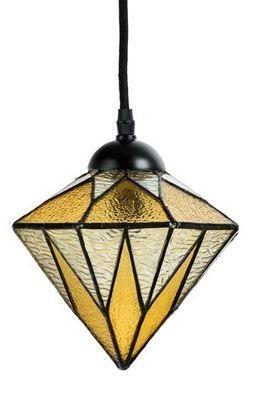 Klares Modernes Design Tiffany Hange Lampe Serie Lovely Aiko Yellow Design Gjv Glaskunst Studio 1 X E 14 40 W Tiffany Lampen Hange Lampe Geometrisch