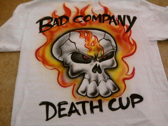 8d1210a9c Personalized Airbrush Flaming Skull Shirt by airbrushingbytaylor, $14.49