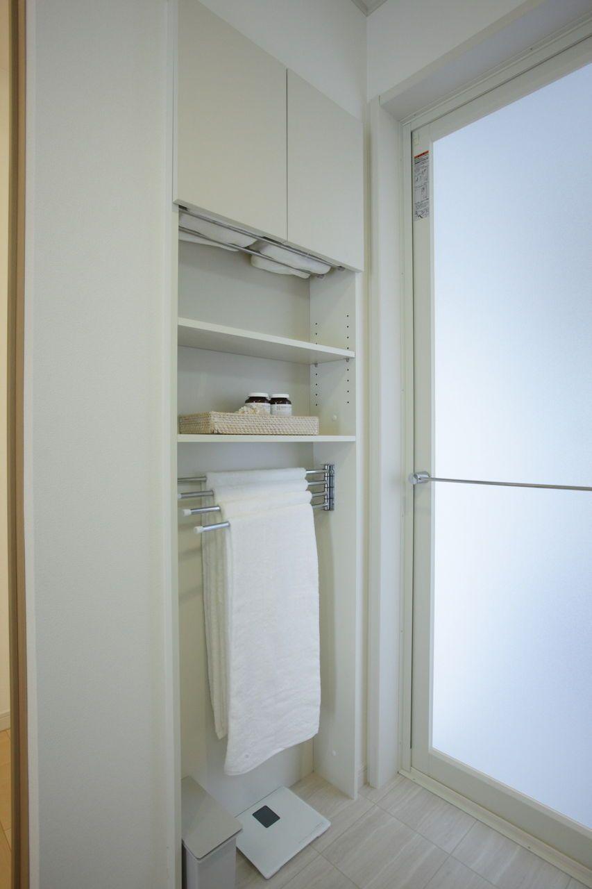 Img 5445 リフォーム バスルーム 脱衣室 収納 タオル 収納 洗面所