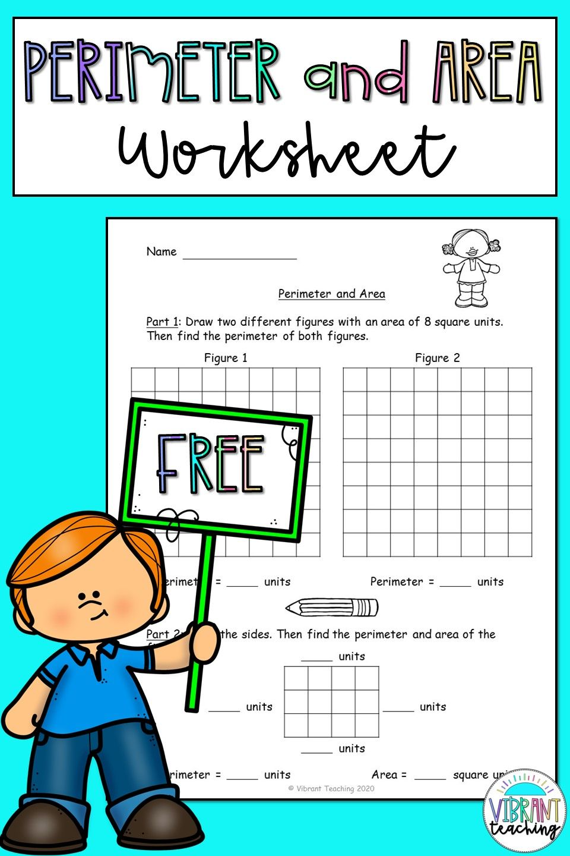 Perimeter and Area Worksheet   Area worksheets [ 1440 x 960 Pixel ]