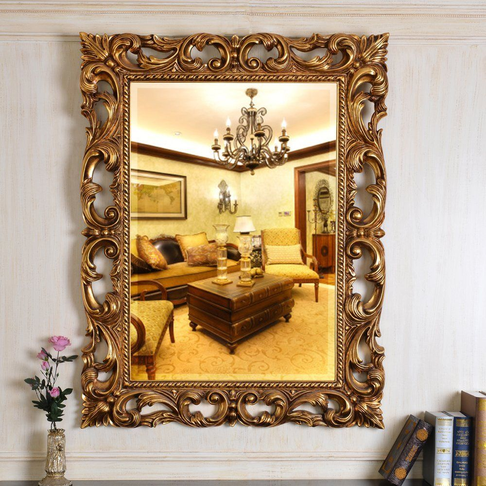 Wall Hanging Large Baroque Gold Color Vintage Design wall mirror ...