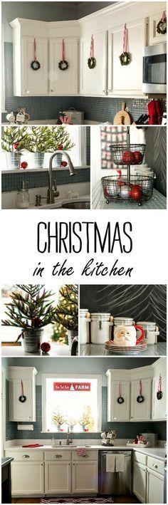 Christmas DIY: Christmas Kitchen De Christmas Kitchen Decorating Ideas #christmasdiy #christmas #diy