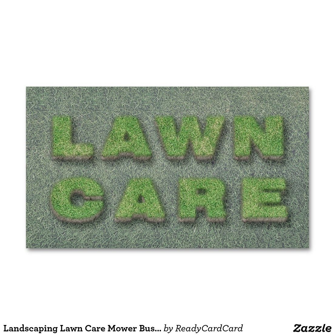 Cool Landscaping Lawn Care Mower Business Card Lawn Care