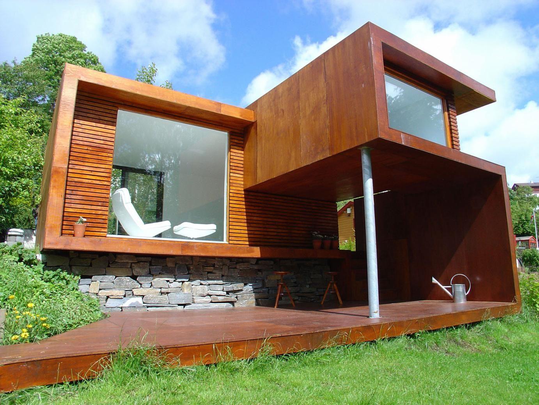 Small modern glass house plans