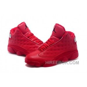 1ba4c730492e 2017 Mens Air Jordan 13 All Red Shoes For Sale Online FXMXcy