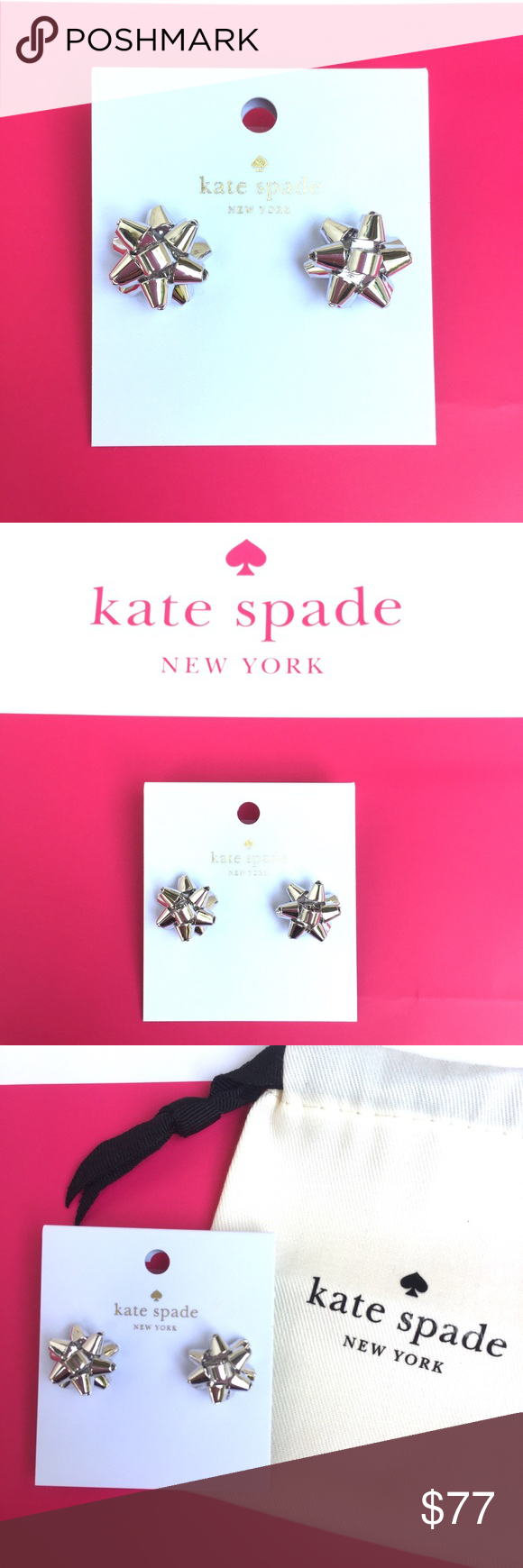 Kate Spade Bourgeois Bow Stud Earrings - Stud Earrings References