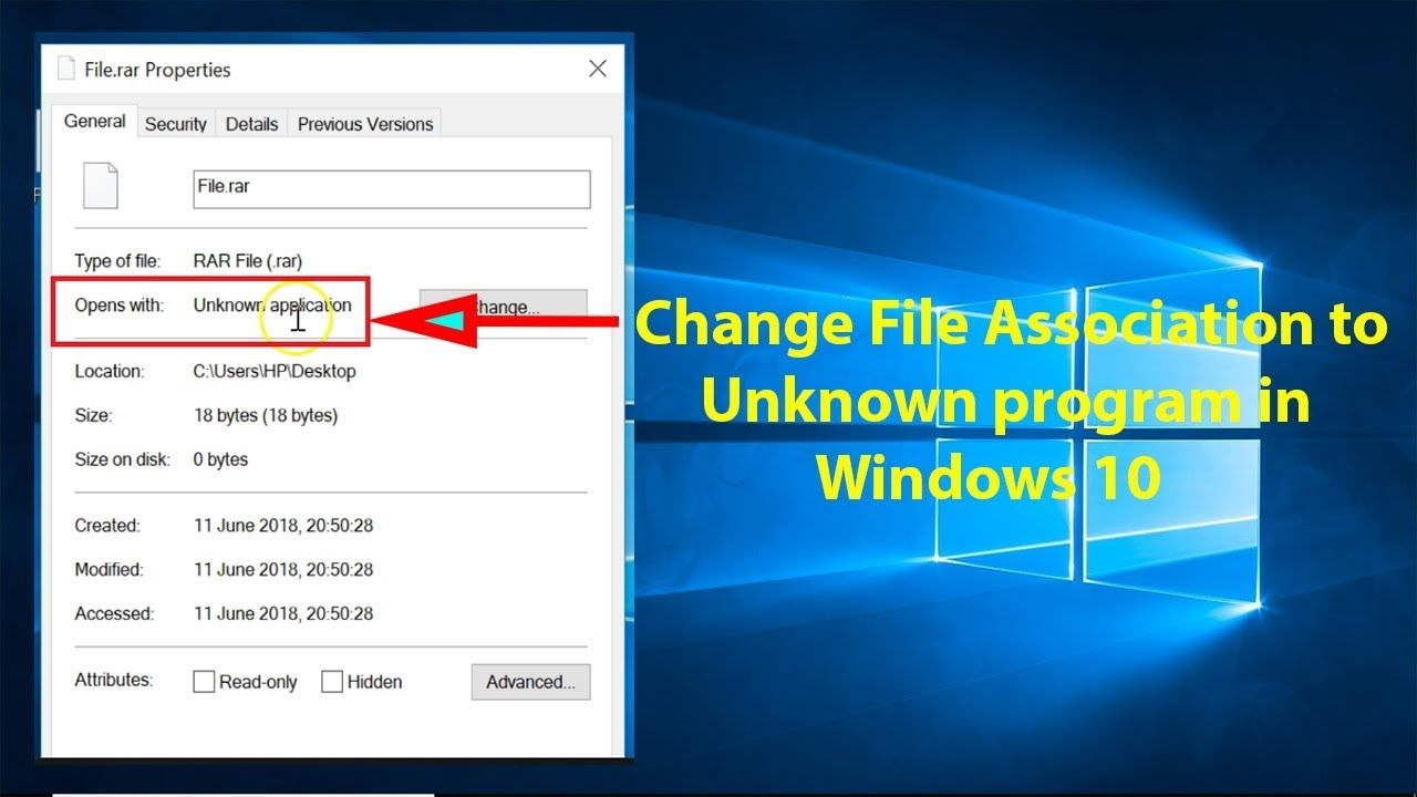 How To Change File Association To Unknown Program In Windows 10 Windows 10 Tutorials Windows 10 Windows