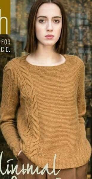 ec98f8624e91 Модный пуловер сезона 2018 года связан спицами из пряжи приятного ...