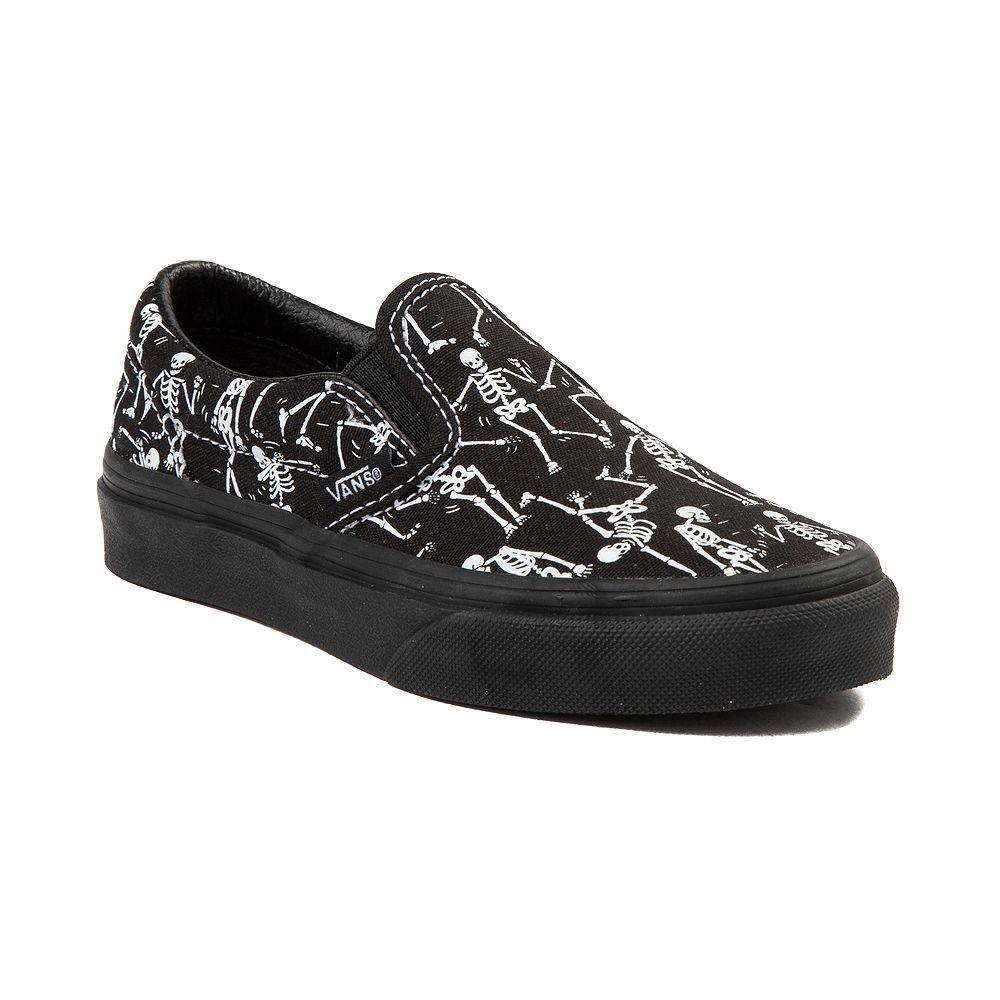 14997cf0991c9b Youth Tween Vans Slip On Bone Dance Glow Skate Shoe - Black - 1498211