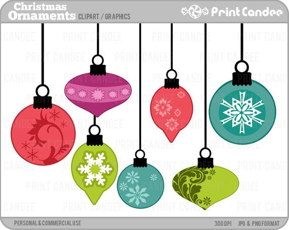 Christmas Ornaments - BUY 2 GET 2 FREE - Digital Clip Art - Personal and  Commercial Use - tree bulbs decorations snow flake - Christmas Ornaments - Digital Clip Art - Personal And Commercial Use