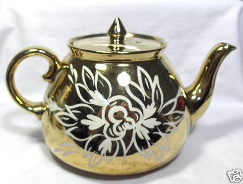Elegant Gibson Staffordshire England Gold Teapot   eBay