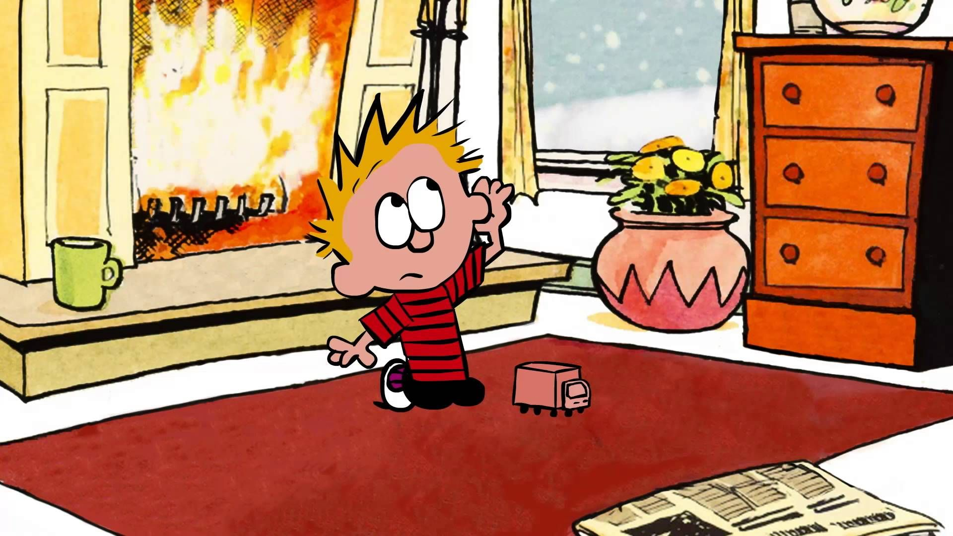 Calvin and Hobbes animation, via YouTube. | Movies, Shows, Books ...