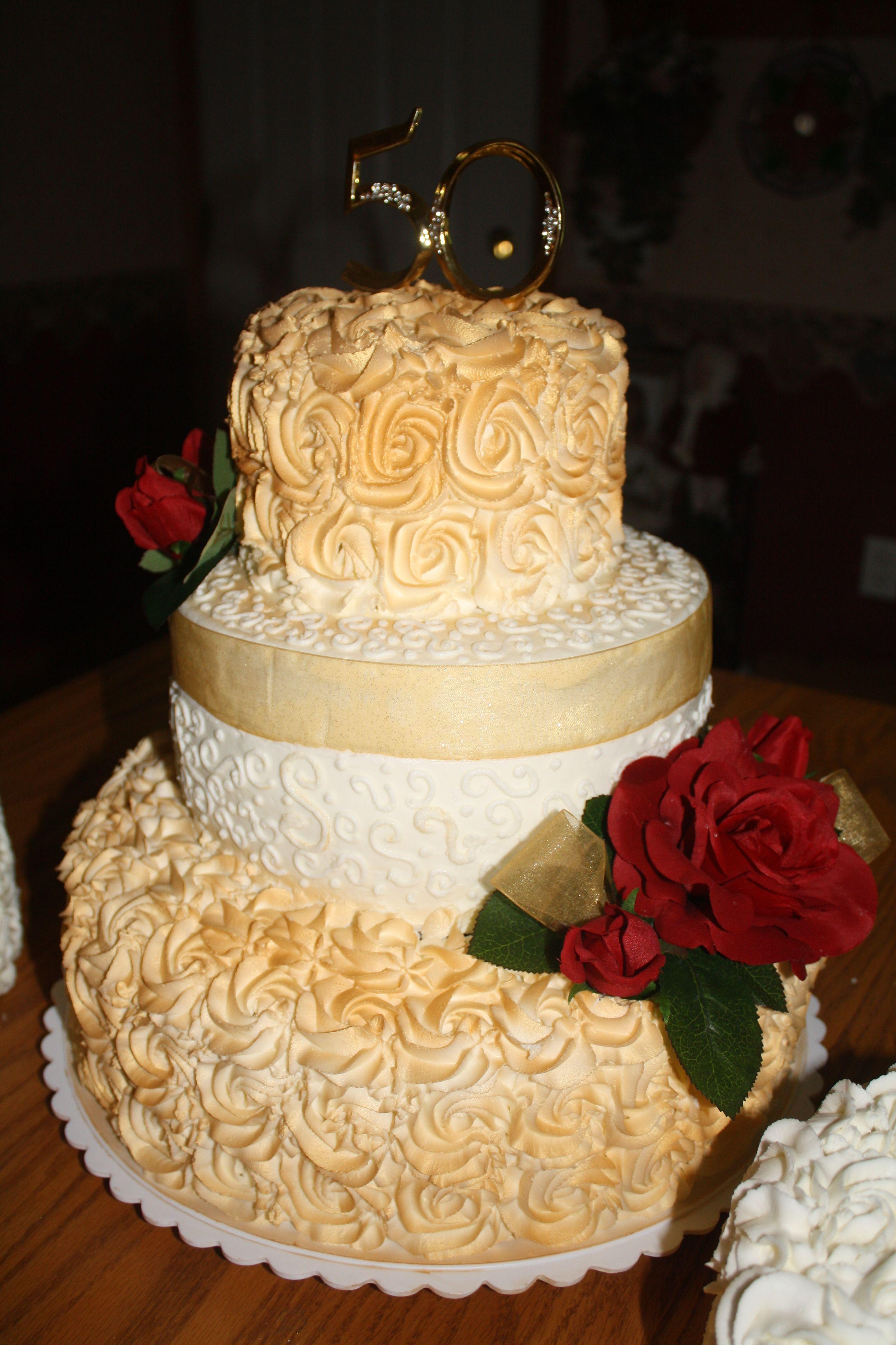 50th Wedding Anniversary cake. 50th anniversary cakes
