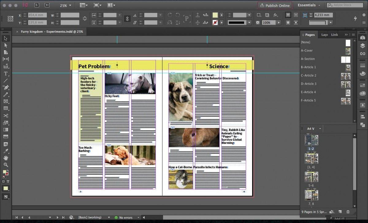 Furry Kingdom, Plantilla Gratis de Periódico Tabloide para InDesign ...