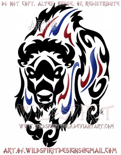 Thundering Bison Tribal Design By Wildspiritwolf Haida Art Tribal Artwork Bison Art