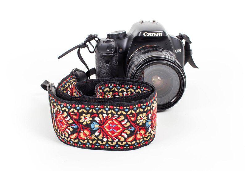 DSLR Red Camera Strap Nikon Woven Camera strap For Canon Vintage Camera strap Quick Release Buckles Sony and more