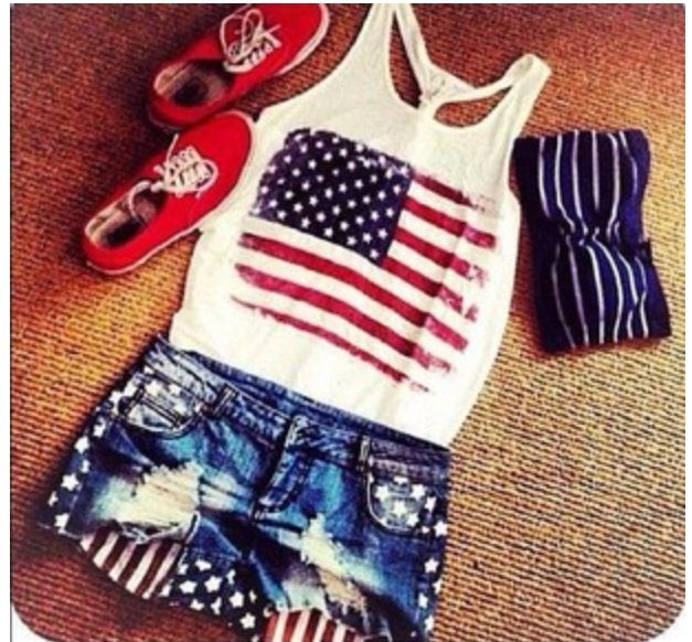 90a316e5640d7e Perfect for the Fourth of July! Tank