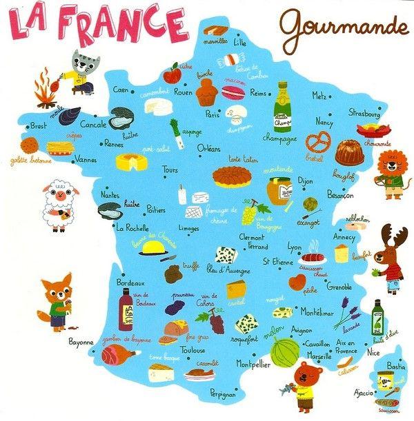Carte De France Des Specialites Culinaires France Map France