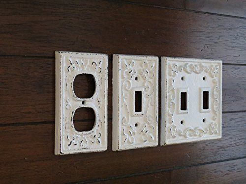 Decorative Electrical Outlet Plate Plug In Cover Fleur De Lis Cast