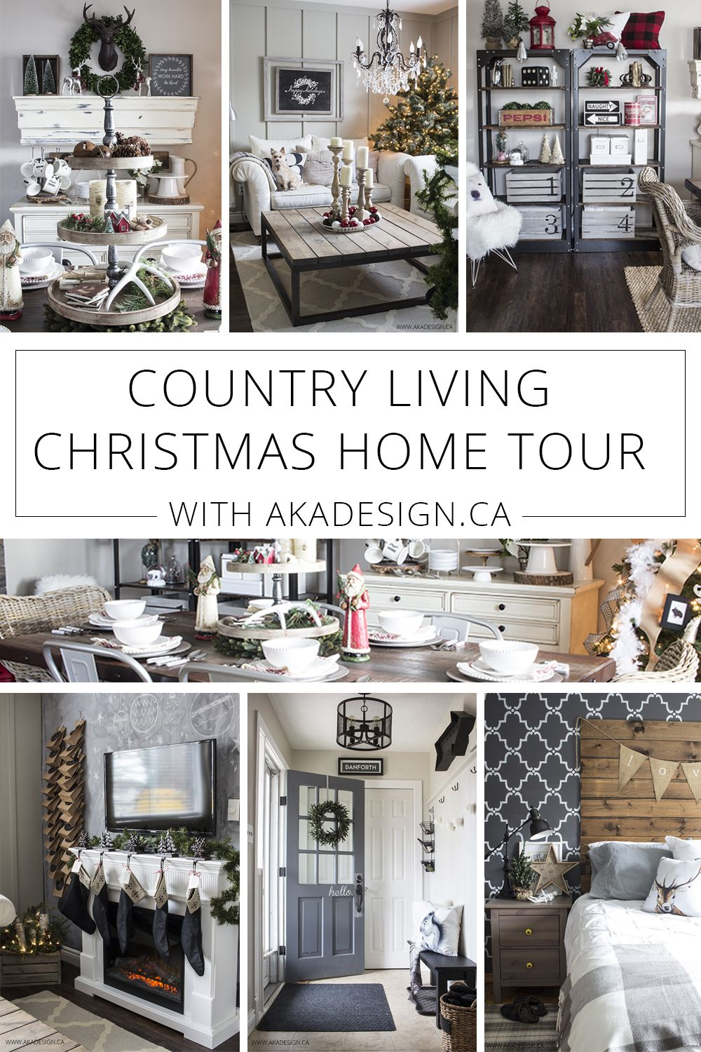 Country Living Christmas Home Tour | Country living and Seasonal decor